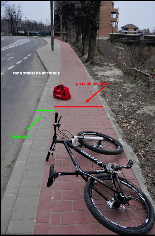 pista copou breazu  staita de microbuz biciclete probikeaddiction iasi