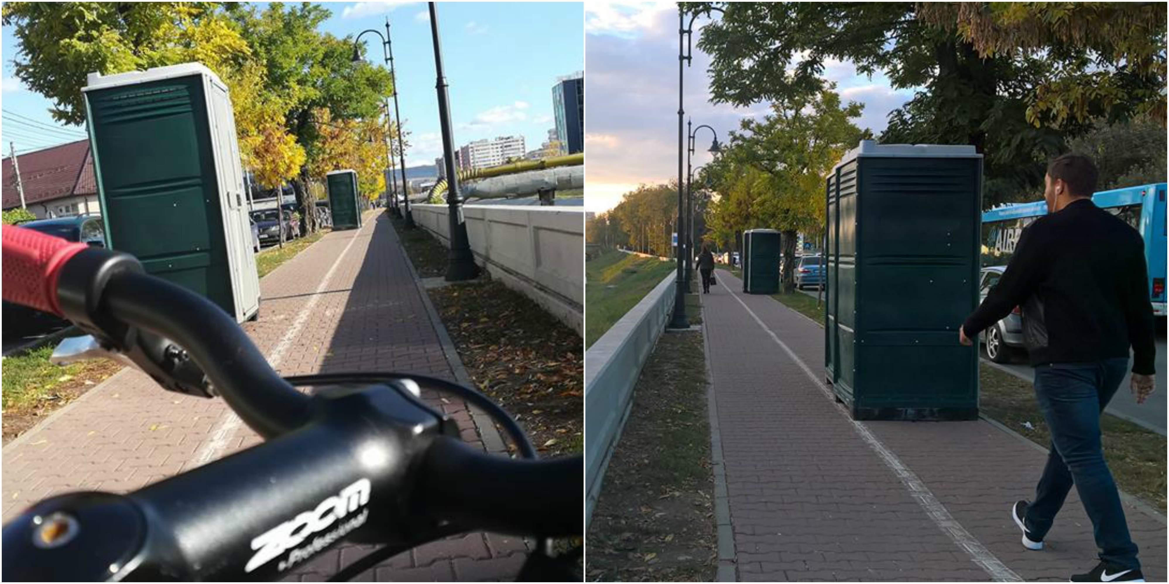 toalete pe pista de pe splai bahlui probikeaddiction iasi biciclete