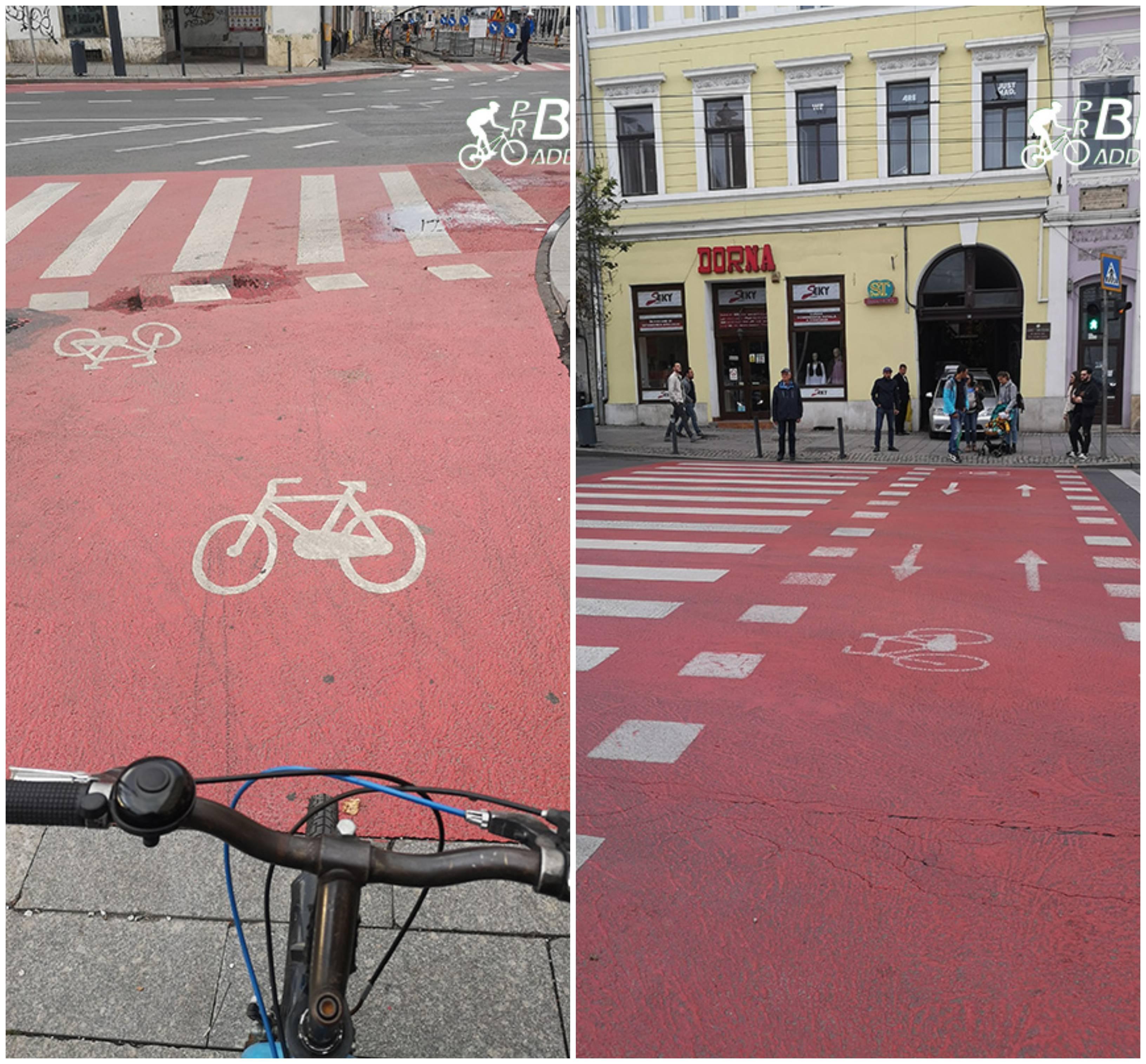probikeaddiction infrastructura biciclistica cluj treceri de pietoni