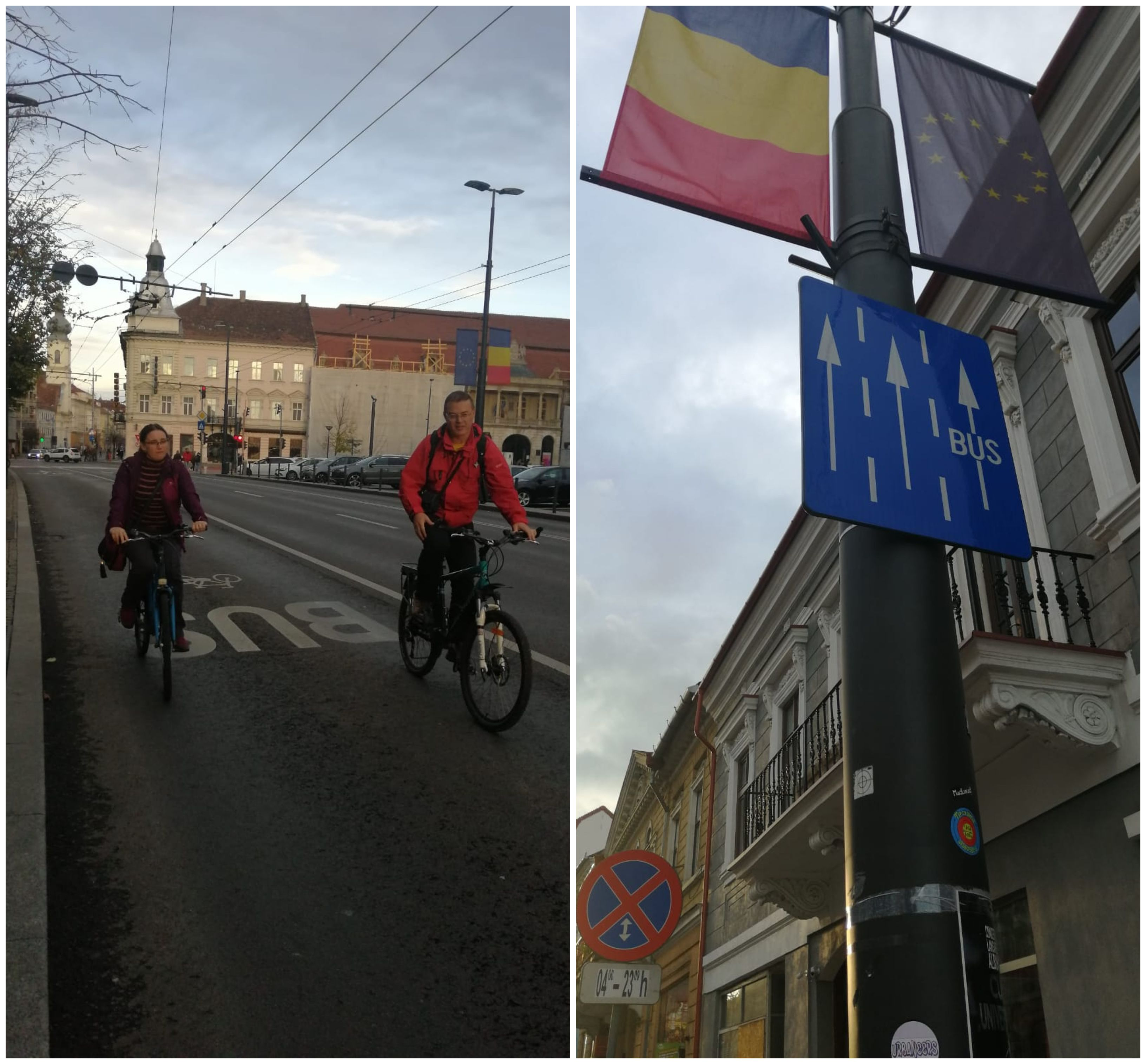 probikeaddiction infrastructura pentru biciclete cluj banda unica bus si bicicleta